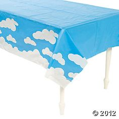 Up & Away Table Cover  Decorate your room with this cloud table cover to enhance the GM Week Dream theme.