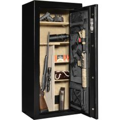 Cannon Scout Safe - 24-Gun Safe with built in media power box with 2 outlets < what I asked for this Christmas!