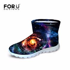 39.99$  Buy now - http://alimb2.shopchina.info/go.php?t=32736190883 - FORUDESIGNS Winter Women Short Ankle Boots For Feminine Galaxy Star Prints Casual Walking Warm Ladies Shoes Breath Zapatos Mujer 39.99$ #bestbuy