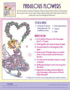Fabulous Flowers - Printable Craft Activity | Fancy Nancy Printable Activities | FancyNancyWorld.com