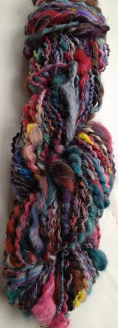 Hand Spun Yarn  All Colors  Thick Thin Coils Art Yarn  por AlmaPark
