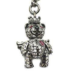 Princess Bear- 4147, Silver, black Rhodium, CZ, Ruby eyes & Heart. RRP$199