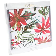 Buy Kelly Ventura Poinsetta Christmas Cards, Pack of 8 from our Christmas Cards range at John Lewis & Partners. Christmas Images, Christmas Projects, Christmas Cards, Christmas Tree, Luxury Card, Natural Christmas, Christmas Traditions, Pattern Wallpaper, Print Patterns