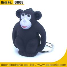 Portable Mini Cute Monkey Sound Keychain Light | Doer Electronic the Animals Novelty Gadgets Supplier from China, Welcome to the World of Animals Fun.