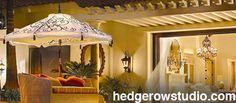 Hedgerow Studio Lighted Patio Umbrella Patio Umbrellas, Studio Lighting, Gazebo, Outdoor Structures, Kiosk, Cabana