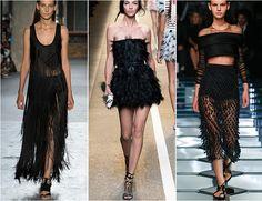 - Tendance printemps-été 2015 - Tendance OISEAUX DE NUIT, via le blogue des GaleriesRiveNord.com #tendance #nuit #robe #fashion #2015 #plume #oiseau #transparence