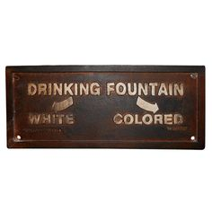 Cast-iron Segregation Sign with embossed lettering from Montgomery, Alabama, dated July 14, 1931.