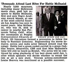 Thousands Attend Funeral for Soror Hattie McDaniel - Jet Magazine, November 1952