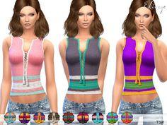 The Sims 4 Mody: Szydełkowy top Crochet Lace-Up od Ekinege