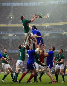 Ireland's lineout.