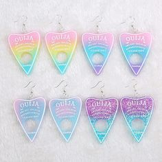 Apr 2020 - Buy Ouija Charm Soft Pastel Goth Drop Earrings with a discount. Shop for Aesthetic Clothing & Accessories, eGirl Outfits, Soft Girl Apparel, Grunge & Vintage clothes, Artsy / Art Hoe Stuff Soft Grunge Outfits, Pastel Grunge, Grunge Style, Grunge Fashion Soft, Pastel Goth Outfits, Pastel Goth Clothes, Ouija, Aesthetic Grunge, Aesthetic Clothes