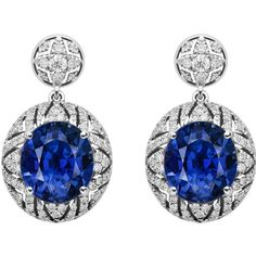 Alexander Arne. A unique sapphire and diamond earrings.