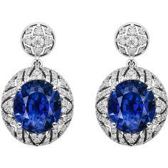 Alexander Arne. A unique sapphire and diamond earrings.