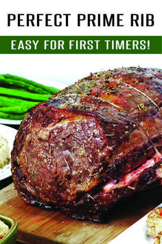 Easy Prime Rib Roast Recipe: Easy for beginners to master! This Prime Rib Recipe is loaded with garlic, herbs and flavor. Finish it off with Au Jus for an unforgettable meal. Easy Prime Rib Roast Recipe, Best Prime Rib Recipe Ever, Cooking Prime Rib Roast, Slow Roasted Prime Rib, Beef Rib Roast, Oven Roasted Prime Rib Recipe, Rib Roast Slow Cooker Recipe, Carne Asada, Eating Clean