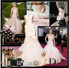 """""""jennifer Lawrence at the oscars"""" by beatriz-andrino ❤ liked on Polyvore"""