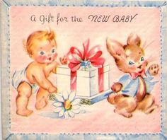 A Gift For New Baby card
