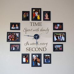 Time spent with family is worth every second - Family Wall Decal - without clock and picture frame (Dark Brown, Large) Geckoo http://www.amazon.com/dp/B00M2FZYSO/ref=cm_sw_r_pi_dp_rOy3ub1T5GV3R