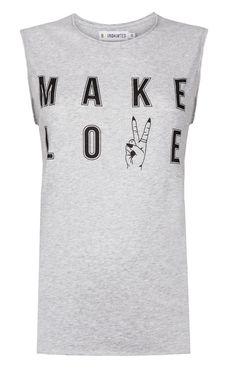 Make Love Not War Muscle top