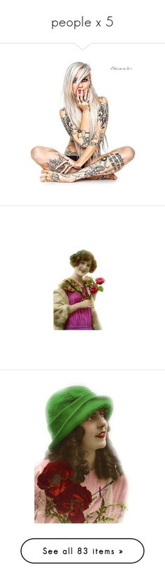 """""""people x 5"""" by loves-elephants ❤ liked on Polyvore featuring doll parts, dolls, torsos, accessories, body art, people, victorian, vintage, women and personnages"""