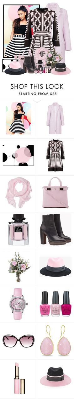 """""""satyurday night :)"""" by zanet ❤ liked on Polyvore featuring Lipsy, Elizabeth and James, Just Cavalli, Love Quotes Scarves, Serapian, Gucci, Brunello Cucinelli, Maison Michel, Audemars Piguet and OPI"""