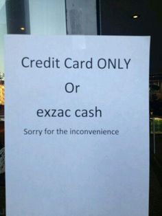 But they spelt inconvenience right