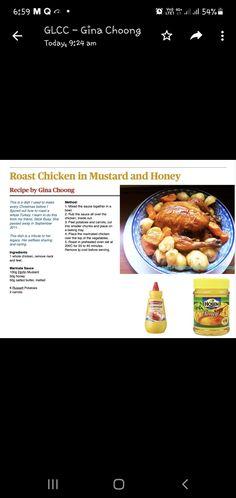 Honey Recipes, Rice Noodles, Roast Chicken, Mustard, Carrots, Dishes, Tablewares, Carrot, Mustard Plant