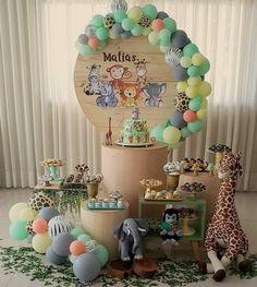 Jungle Theme Birthday, Safari Theme Party, Baby First Birthday, Birthday Party Decorations, Birthday Parties, Shower Bebe, Marie, Baby Shower Parties, Box