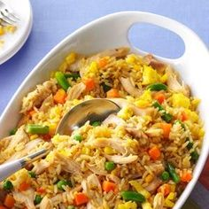 "Super Quick Chicken Fried Rice - I used ""Chicken Fried Rice"" flavored rice instead of the Garden Veg. and 4 eggs instead of 2. Super Yummy! :)"