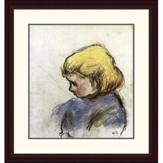 Global Gallery 'Portrait of Ludovico-Rodo-Pissaro C.' by Camille Pissarro Framed Painting Print Size: