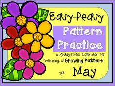 Complex growing pattern calendar cards for May!