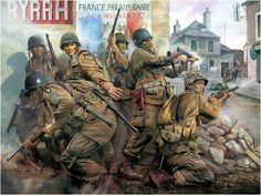 'Easy Company' - The Taking of Carentan. Carentan making the Easy Company, 506th Parachute Regiment, 101st Airborne Division, Normandy 1944.
