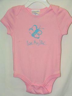 "Z-LTL KID Vintage ""Kiddo the Butterfly"" Onesie Light Pink"