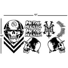 Metal Mulisha Sheet Laptop Car Truck Vinyl Decal Window Sticker PV438