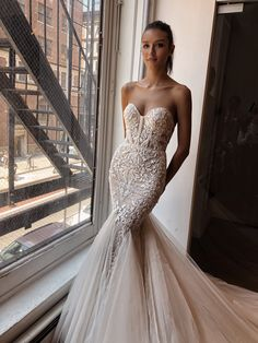 Collection N 2 from Privee available at trunk shows starting this weekend. Wedding Dress Trends, Sexy Wedding Dresses, Bridal Dresses, Wedding Gowns, Berta Bridal, Mermaid Gown, Mermaid Dresses, The Dress, Dream Dress
