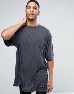 CHEAP MONDAY EMPHASIS RIBBED T-SHIRT - GRAY. #cheapmonday #cloth #