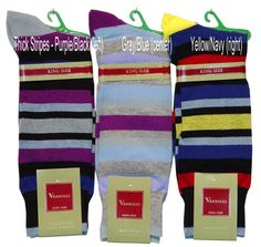 VANNUCCI PATTERNED SOCKS, 12 PATTERNS SHOE SIZE 13-16 $9.00