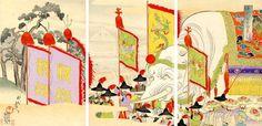 1897 - Chikanobu, Toyohara - A Gift from the Emperor of China - Japanese Art Open Database