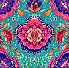 Boho Fantasy Pattern Art Print by Boho_Rhapsody | Society6