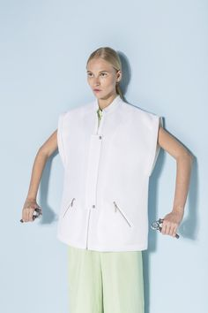 yasya-minochkina-ss14-07 Central Saint Martins, 2014 Trends, Spring Summer Trends, Pretty Pastel, Ukraine, Editorial Fashion, Chef Jackets, Sportswear, Product Launch