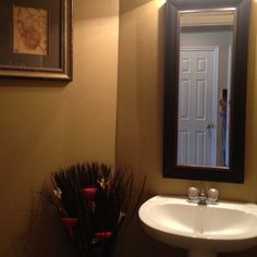 Bathroom makeover. Sherwin Williams paint. Color Baguette. color for 1/2 bath??
