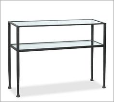 Tanner Console Table #potterybarn                                                                                     Maybe use as bar under Holman bar shelves?