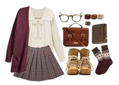 """School uniform 3"" by hungry-unicorn ❤ liked on Polyvore featuring H&M, Isabel Marant, Brooks Brothers, Carvela Kurt Geiger, Oliver Peoples and Gus* Modern"