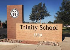 Ethos- Ethos Flat cut Ethos dimensional letters & cast aluminum plaque applied to an existing exterior monument sign in Midland TX. Monument Signage, School Signage, Trinity School, Big Modern Houses, Guard House, Famous Monuments, Exterior Signage, Entrance Design, Letter Logo