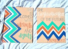 PROVERBS 31:25 CANVAS SET.. $55.00, via Etsy.