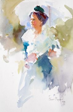 water colour umbrella - Maybe I should try this from a photo of my own perhaps of Olivia!