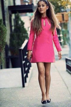 ariana grande style celebrity my everything pink dress
