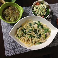 スープもサラダもなすなす。 - 9件のもぐもぐ - クリームパスタ by hidekana0330