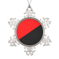 Anarchist, flag pewter snowflake decoration