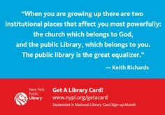 the library belongs to you