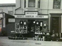 Riddy's Surplus Store on Walsgrave Road. Sweeney Todd hairdressers was next door to this Coventry City, Photographs And Memories, Sweeney Todd, Hairdressers, Next Door, Zero, Nostalgia, Old Things, Corner